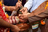 image of dulhan  - indian wedding ritual of giving away the bride - JPG