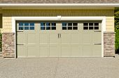 a double garage door