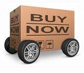 buy now web shop icon order online internet webshop shopping package delivery wheel