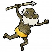 cartoon old tribesman