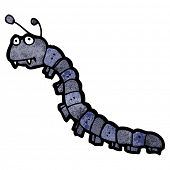 image of millipede  - cartoon millipede - JPG