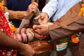 image of dulhan  - indian wedding ritual of giving away the bride - JPG