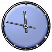 Modern Clock Design In Pastel Blue