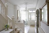 pic of staircases  - Front door with entrance hall of house - JPG