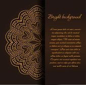 Vintage background with mandala ornament and place for your text