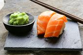 stock photo of sushi  - sushi with salmon  - JPG