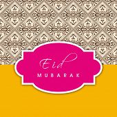 Beautiful background for Muslim community festival Eid Mubarak.