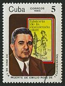 CUBA - CIRCA 1984: A stamp printed in Cuba shows image of the Leuchsenring Emilio Roig was a Cuban p