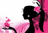 foto of young black woman  - Vector image girl - JPG