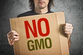 stock photo of anti  - No GMO - JPG