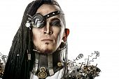 stock photo of post-apocalypse  - Portrait of a steampunk man - JPG