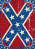 image of confederate flag  - Confederate grunge background - JPG