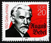 Postage Stamp Gdr 1990 August Bebel, Marxist Politician