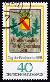 Postage Stamp Germany 1978 Baden Posthouse Sign, C. 1825