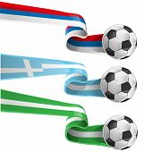 pic of nigeria  - nigeria greek and russian flag with soccer ball - JPG