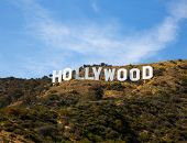 HOLLYWOOD CALIFORNIA - APRIL 12, 2013: Located in Hollywood Hills at Mount Lee is the world famous l
