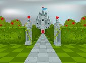 image of alice wonderland  - Palace of Queen of Hearts in Wonderland - JPG