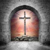 stock photo of golgotha  - Way to Golgotha - JPG