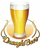foto of draught-board  - Illustration of the draught beer label on a white background - JPG