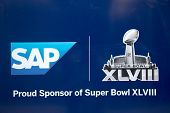 SAP  Super Bowl XLVIII billboard on Broadway during Super Bowl XLVIII week in Manhattan