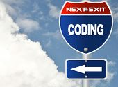 Coding road sign