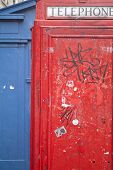 foto of phone-booth  - red phone booth in edinburgh in scotland - JPG