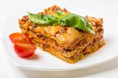 stock photo of lasagna  - Classic Meat  - JPG
