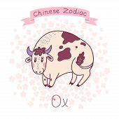 stock photo of oxen  - Chinese Zodiac  - JPG