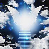 picture of stairway to heaven  - Stairway into light - JPG