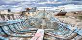 image of shipwreck  - Shipwreck on Old Boat Scrap Yard - JPG