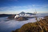 foto of bromo  - Scenic view of Mt - JPG