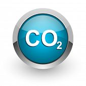 pic of carbon-dioxide  - carbon dioxide blue glossy web icon - JPG