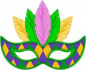 foto of masquerade mask  - Mardi Gras mask design  - JPG