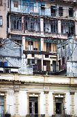 foto of street-rod  - old house with balconies and windows - JPG