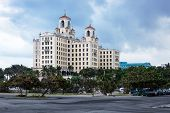 stock photo of malecon  - Hotel National Cuba on a sunny day - JPG