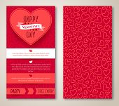 picture of marriage decoration  - Beautiful greeting cards with heart pattern - JPG