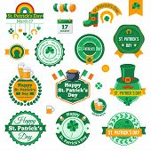 foto of saint patrick  - Set of Typographic Saint Patrick - JPG
