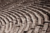 image of epidavros  - The theater at Epidaurus Archeological Site in Greece - JPG