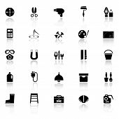 foto of fibonacci  - DIY tool icons with reflect on white background stock vector - JPG