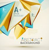 stock photo of futuristic  - 3d geometric shapes in the air - JPG