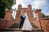 stock photo of ceremonial clothing  - beautiful wedding ceremony in the Hall organ - JPG