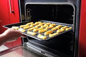 pic of eclairs  - Baking Eclair Cookie in the Oven - JPG