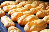 foto of eclairs  - Baking Eclair Cookie in the Oven - JPG