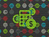 stock photo of calculator  - Finance concept - JPG