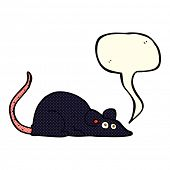 stock photo of rats  - cartoon black rat with speech bubble - JPG