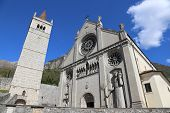 stock photo of rebuilt  - Cathedral Church of the town of GEMONA in North Italy rebuilt after the earthquake - JPG