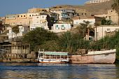 Felucca sailboat ride on Nile River near Aswan, Egypt