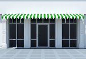 foto of awning  - Shopfront in the sun  - JPG