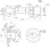 picture of bearings  - Sketch of bearing with polishing and chamfers - JPG