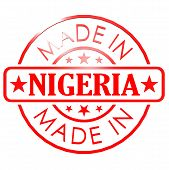 stock photo of nigeria  - Made in Nigeria red seal image with hi - JPG